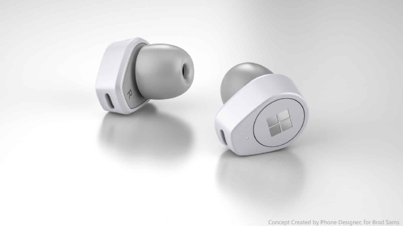 rumored microsoft earbuds mockup
