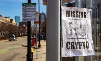 missing crypto sign at bus stop in boston ma