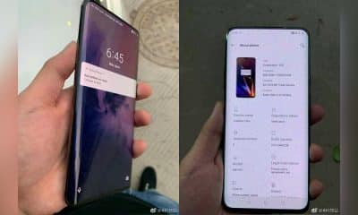 oneplus 7 showing curved screen design