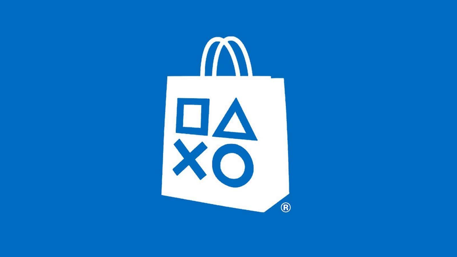 playstation store from sony logo on blue background