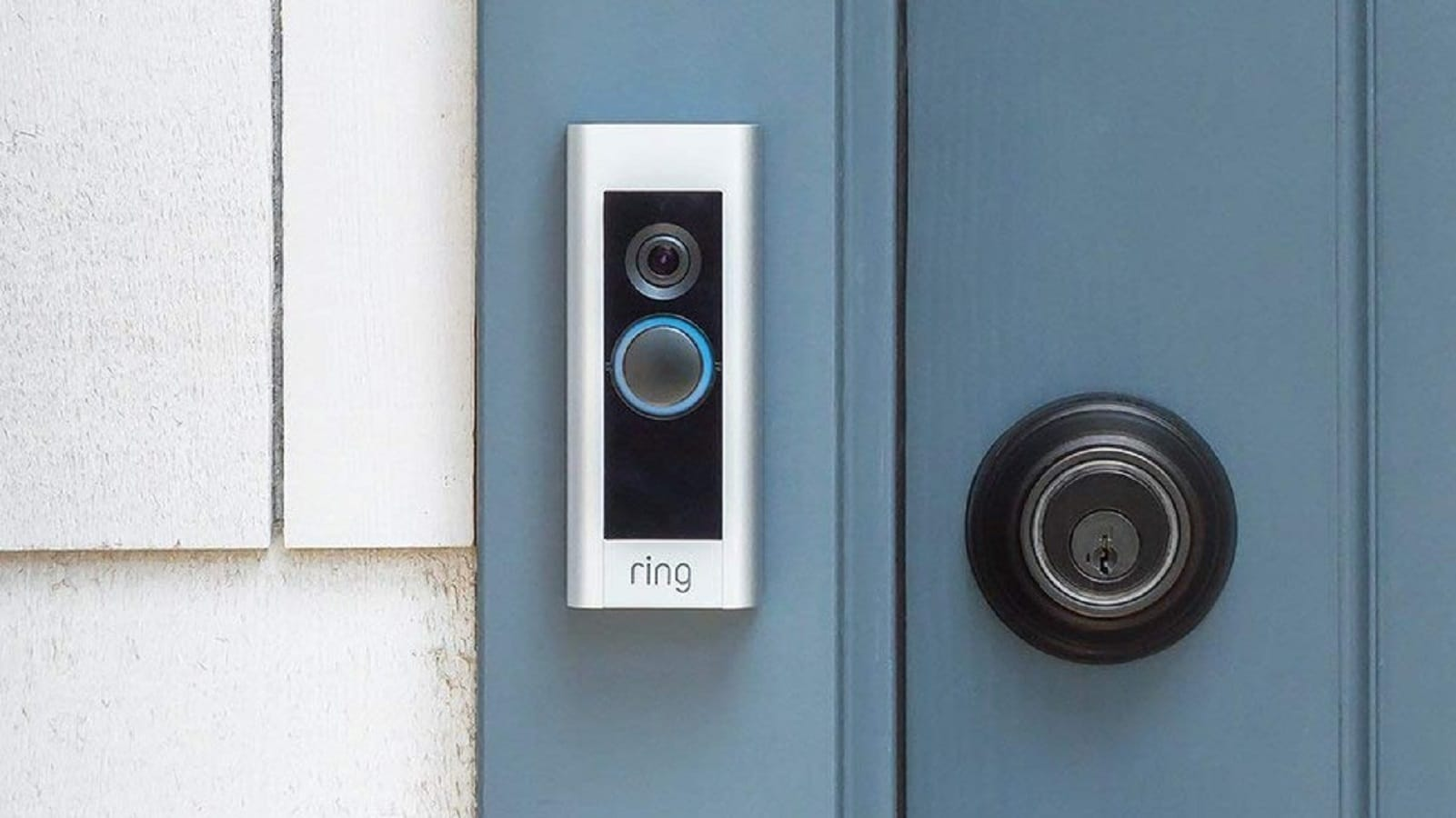 ring doorbell on wall of home