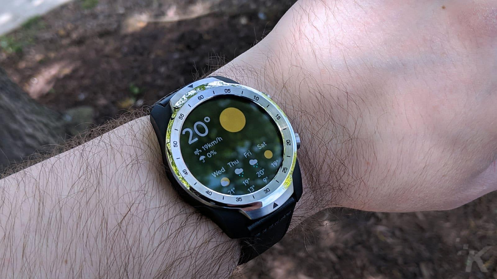 ticwatch pro on wrist