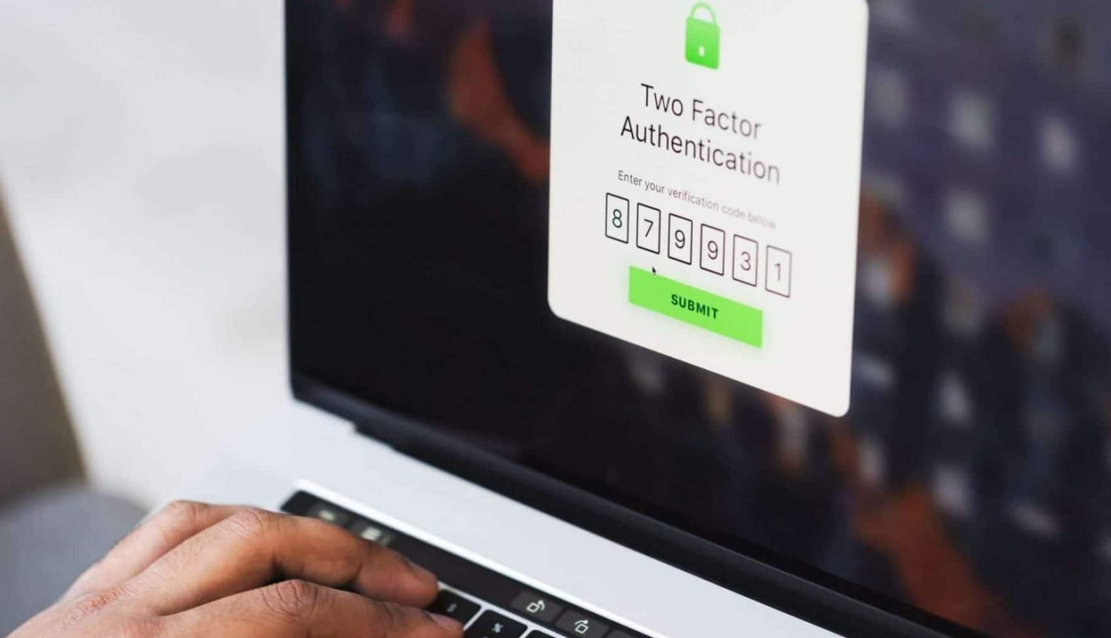 verification with two factor password