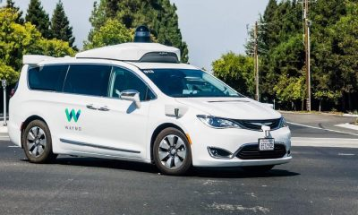 waymo self-driving car in parking lot