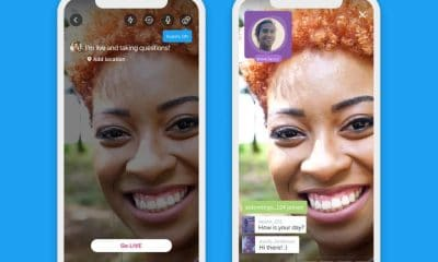 screenshots showing the new guest mode for twitter live streaming videos