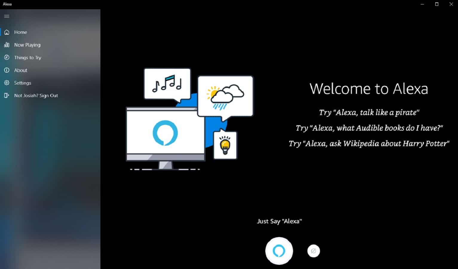 alexa on windows 10 with voice activation