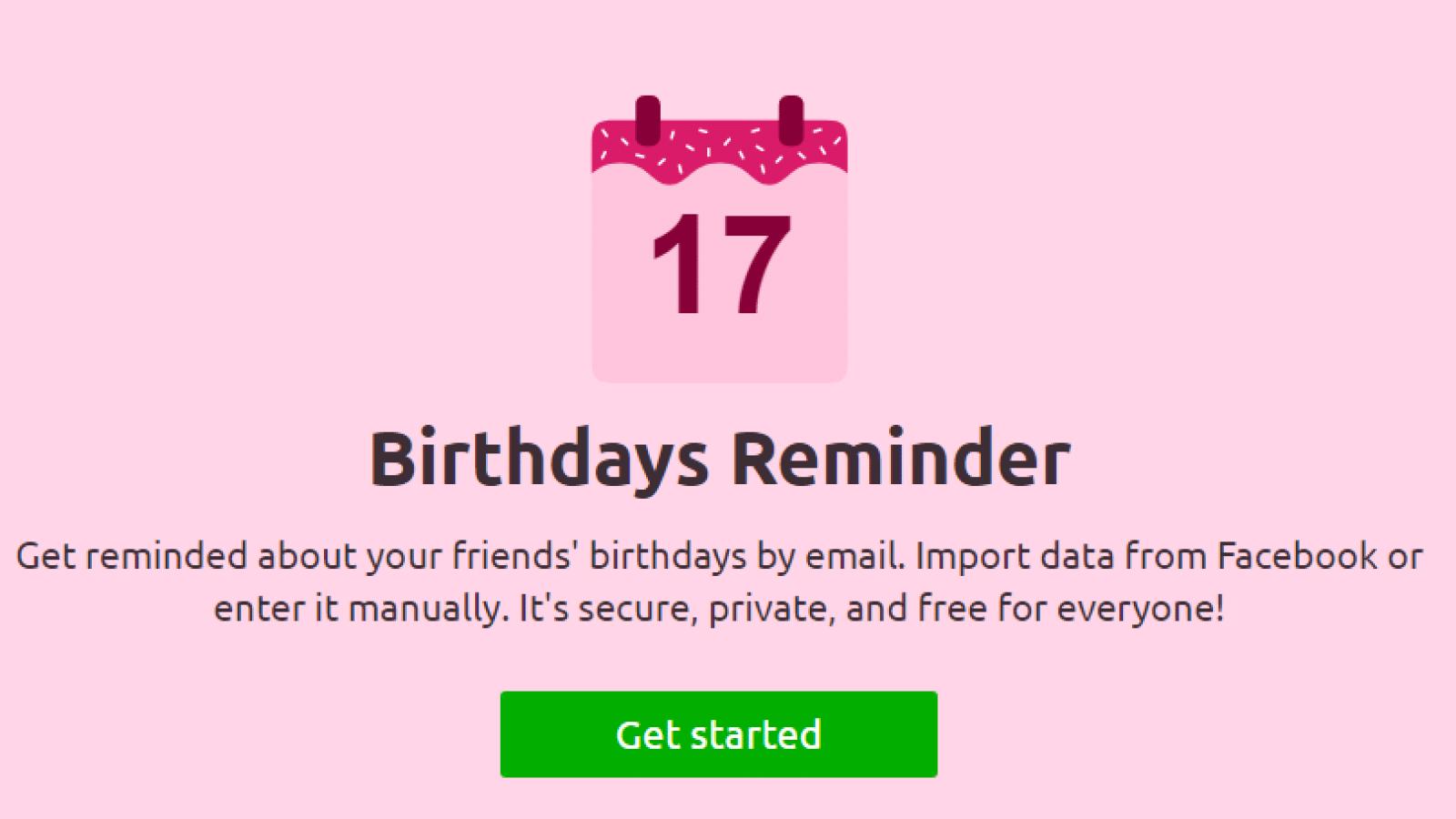 birthdays reminder app