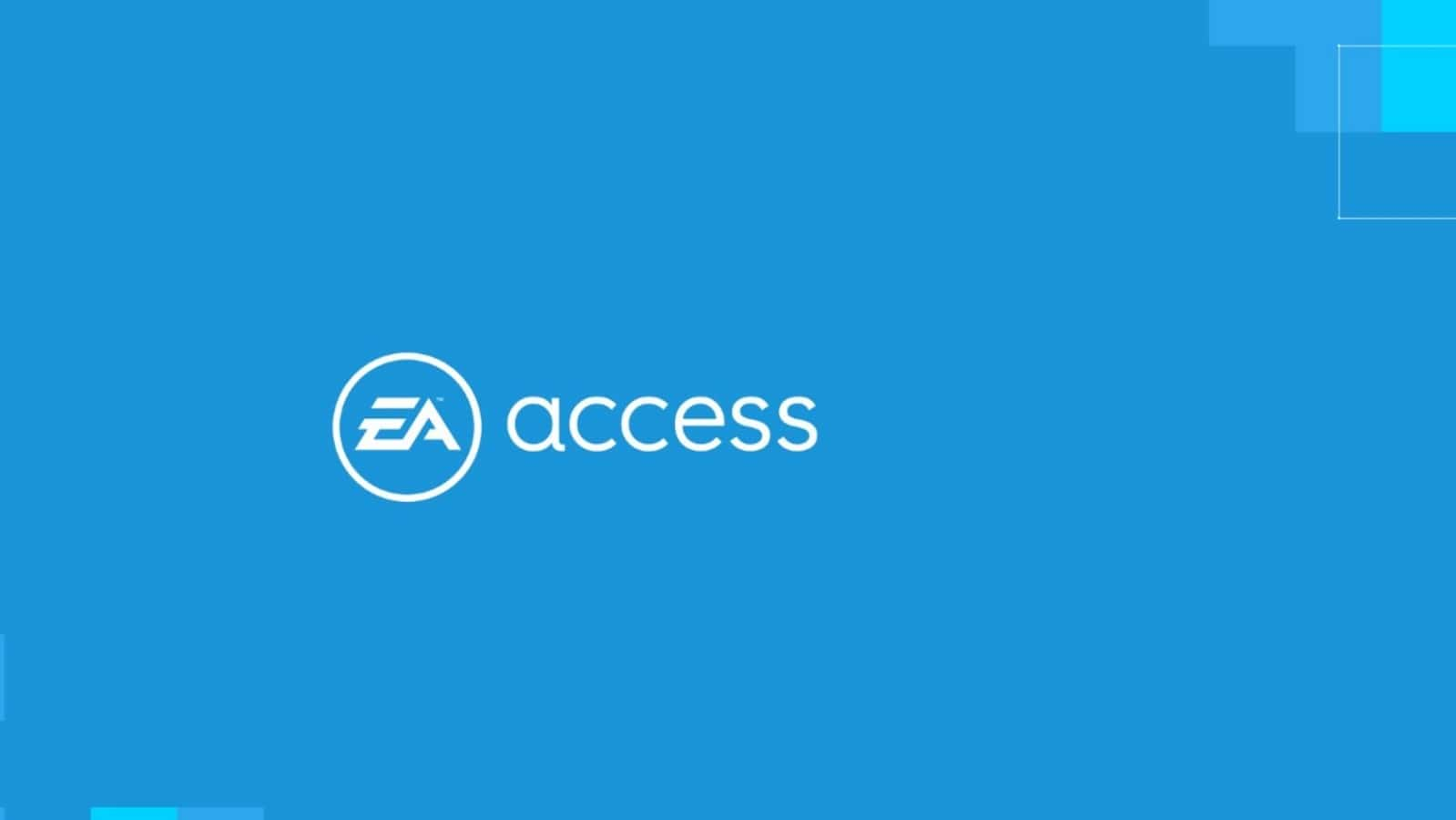 ea access logo on blue background