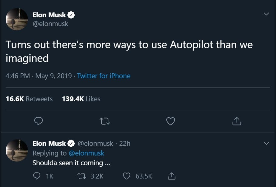 elon musk comments on tesla porn on twitter