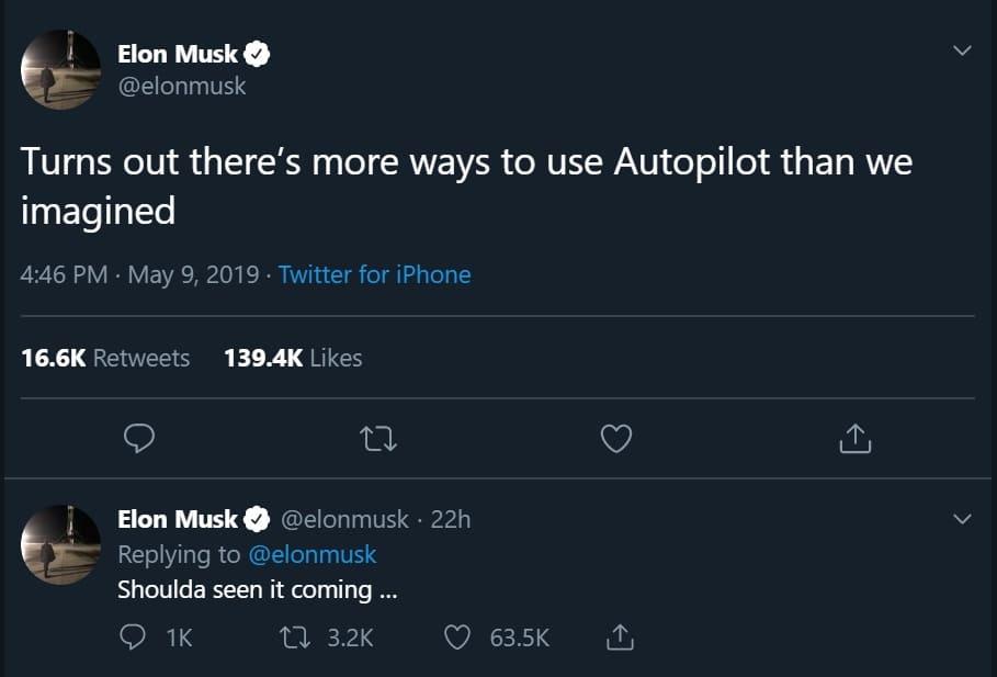 elon musk comments on tesla porn on twitter