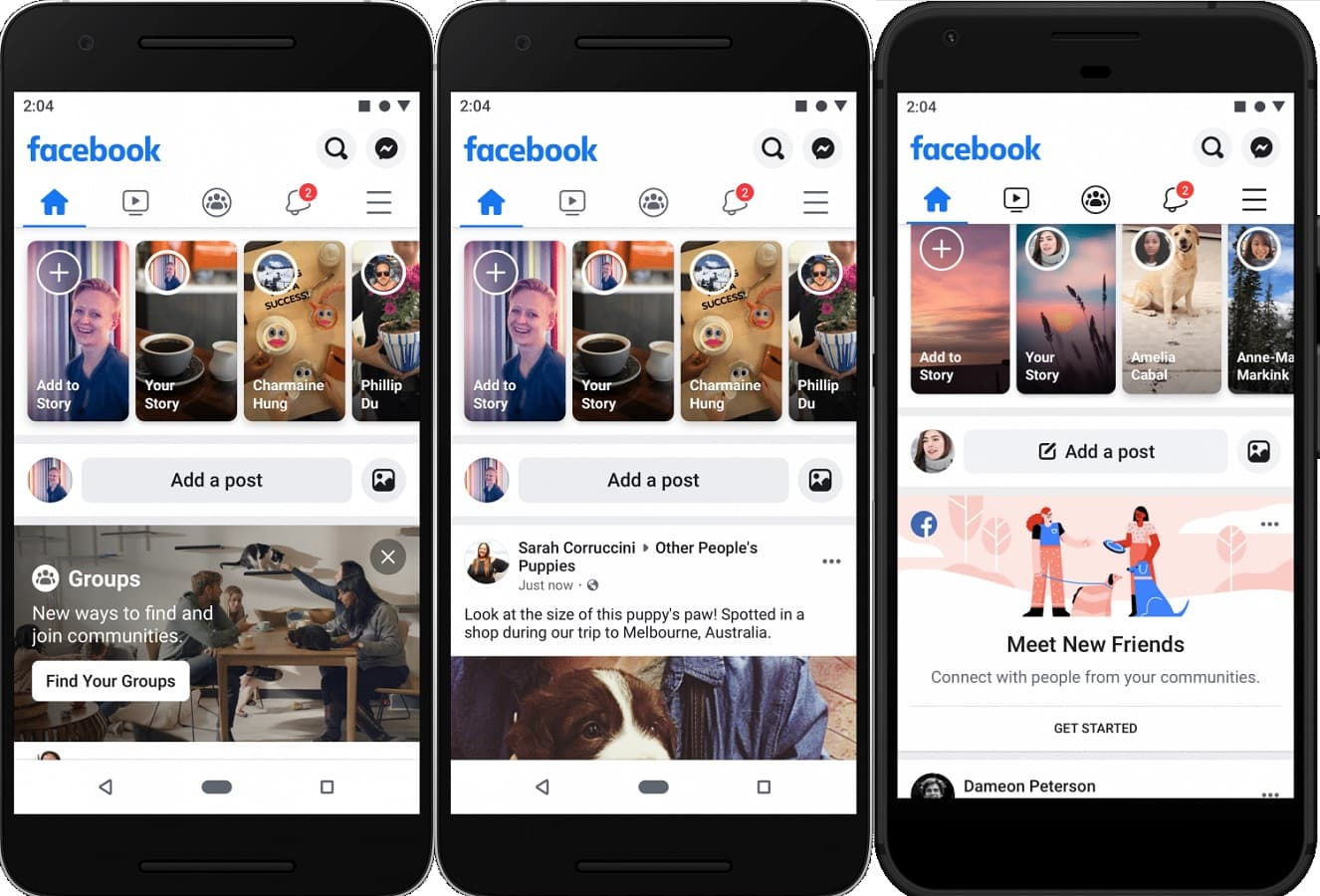 facebook mobile update showing at f8 2019