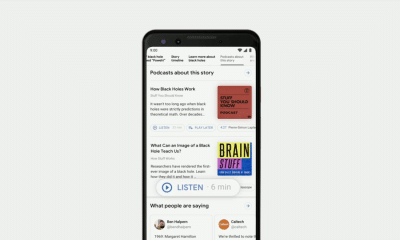 google i/o search podcasts