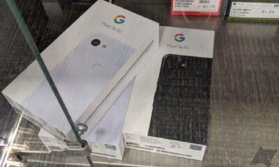 google pixel 3a xl in glass case