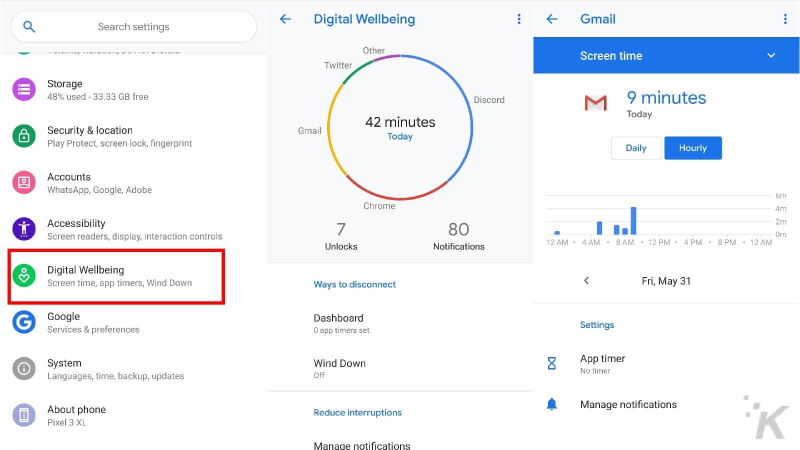 digital wellbeing app on google pixel devices