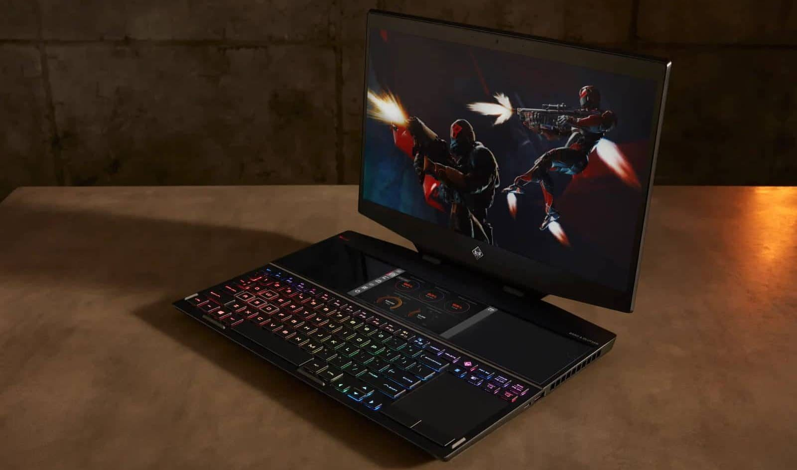 hp omen x 2s on table