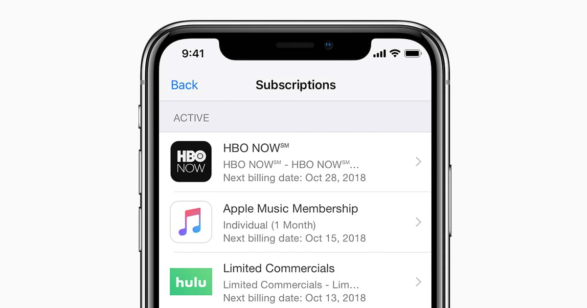 iphone x how to cancel hbo on iphone ipad
