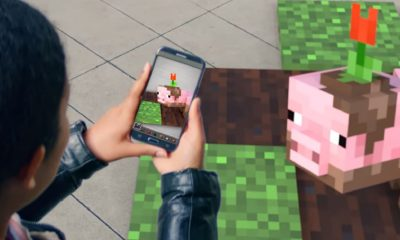 minecraft ar shown on phone