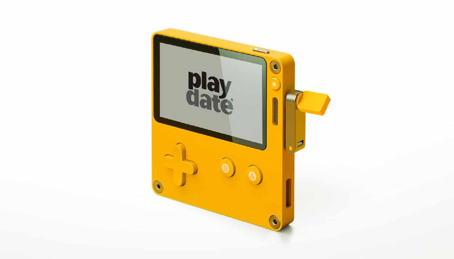 playdate console on white background