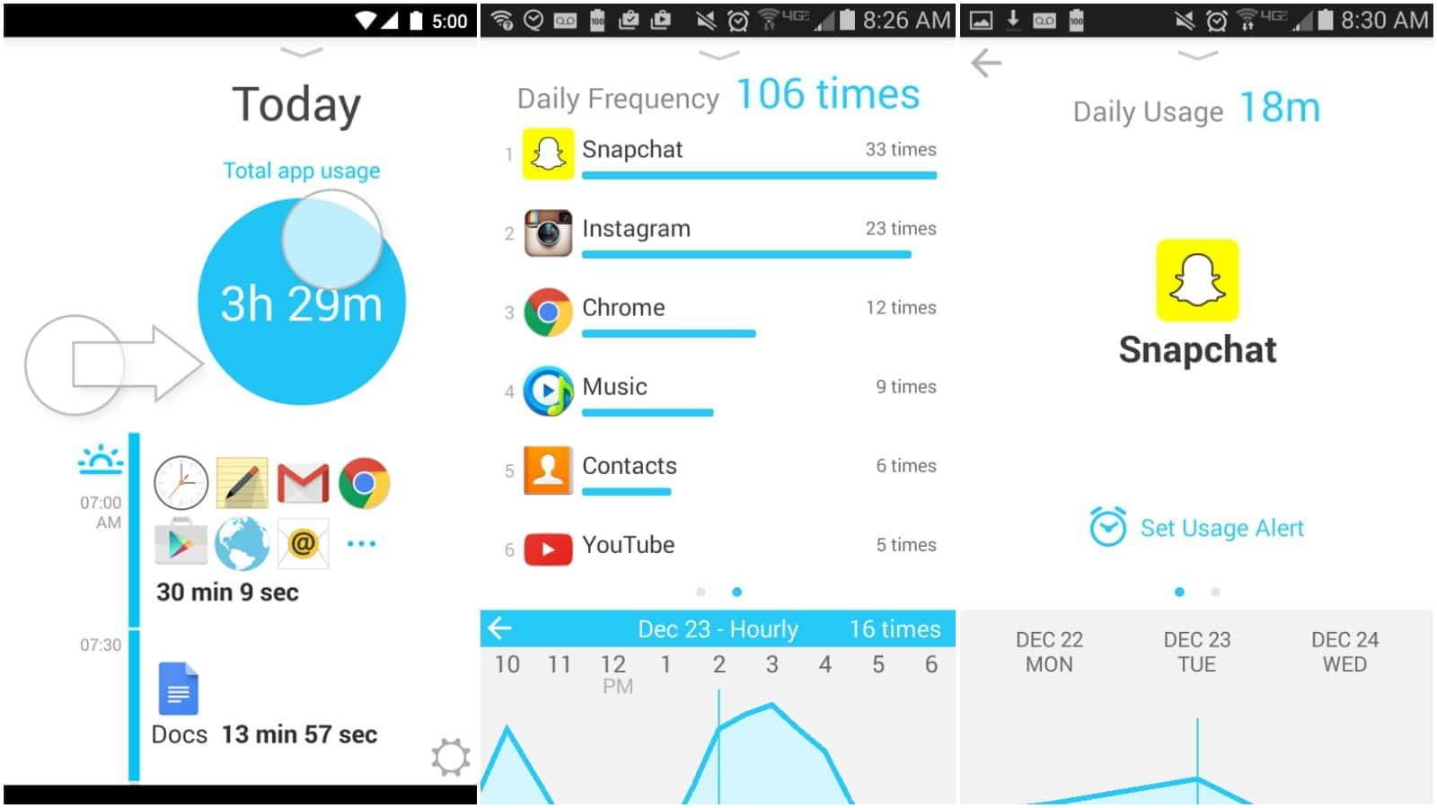 quality time android time tracking app