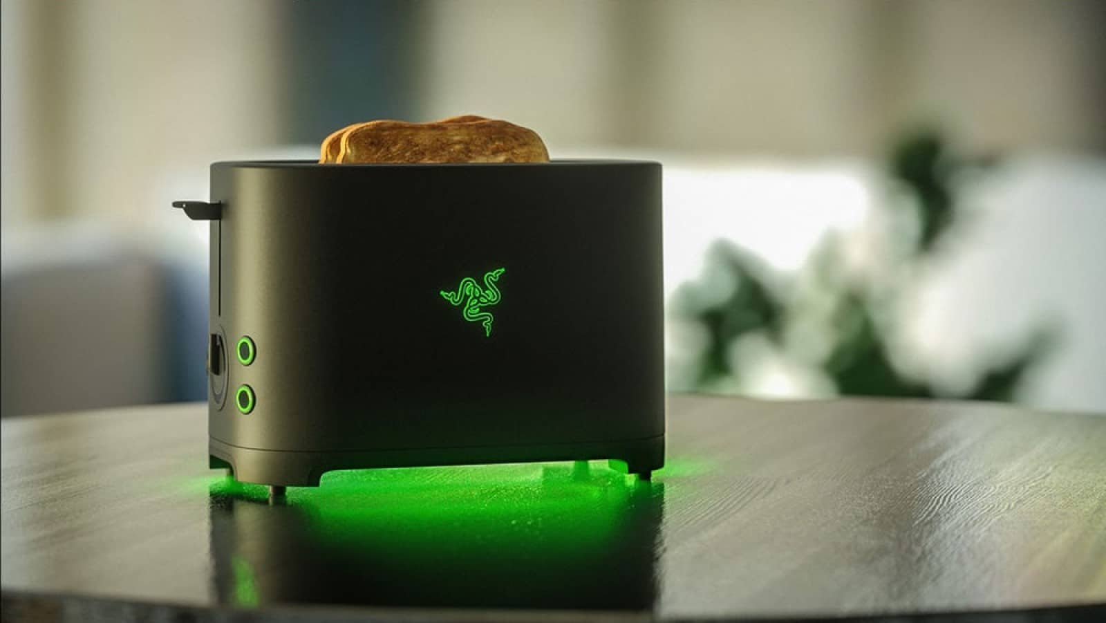 razer project breadwinner toaster on table