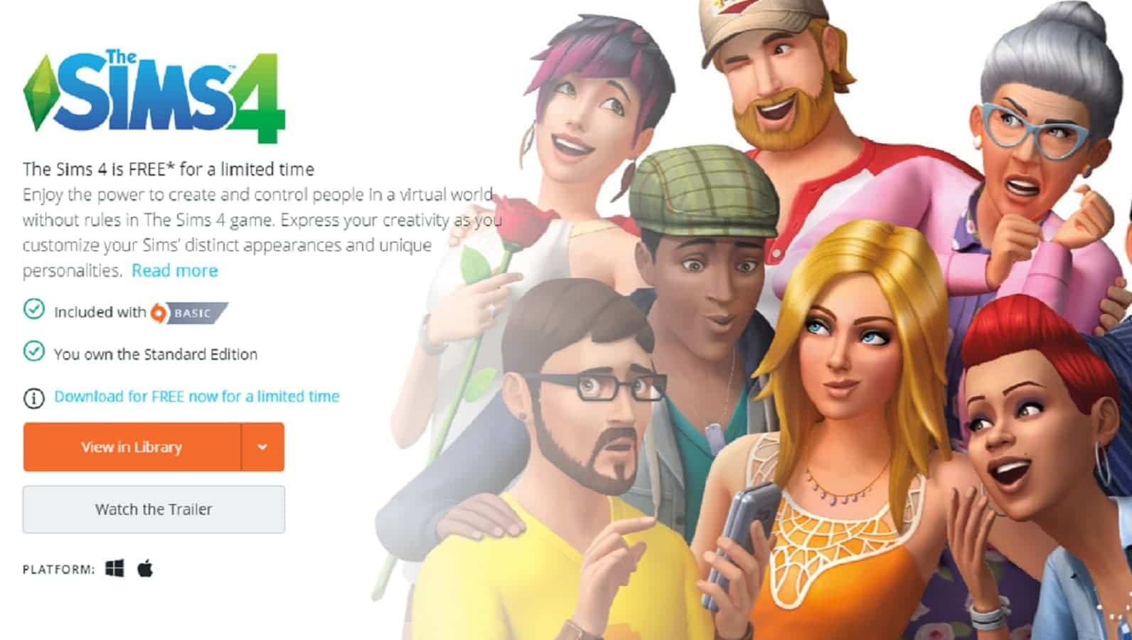 Yo, you can get The Sims 4 fo' free on PC right now
