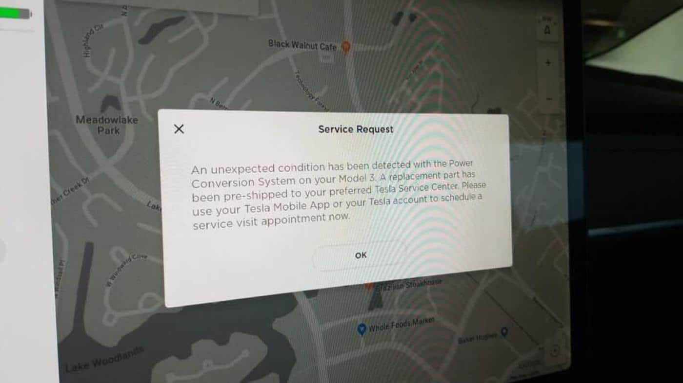 Tesla cars now know when a part needs replacing and pre
