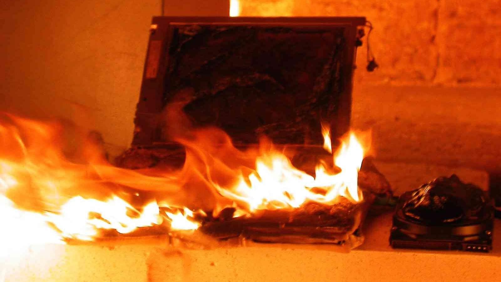 macbook pro on fire