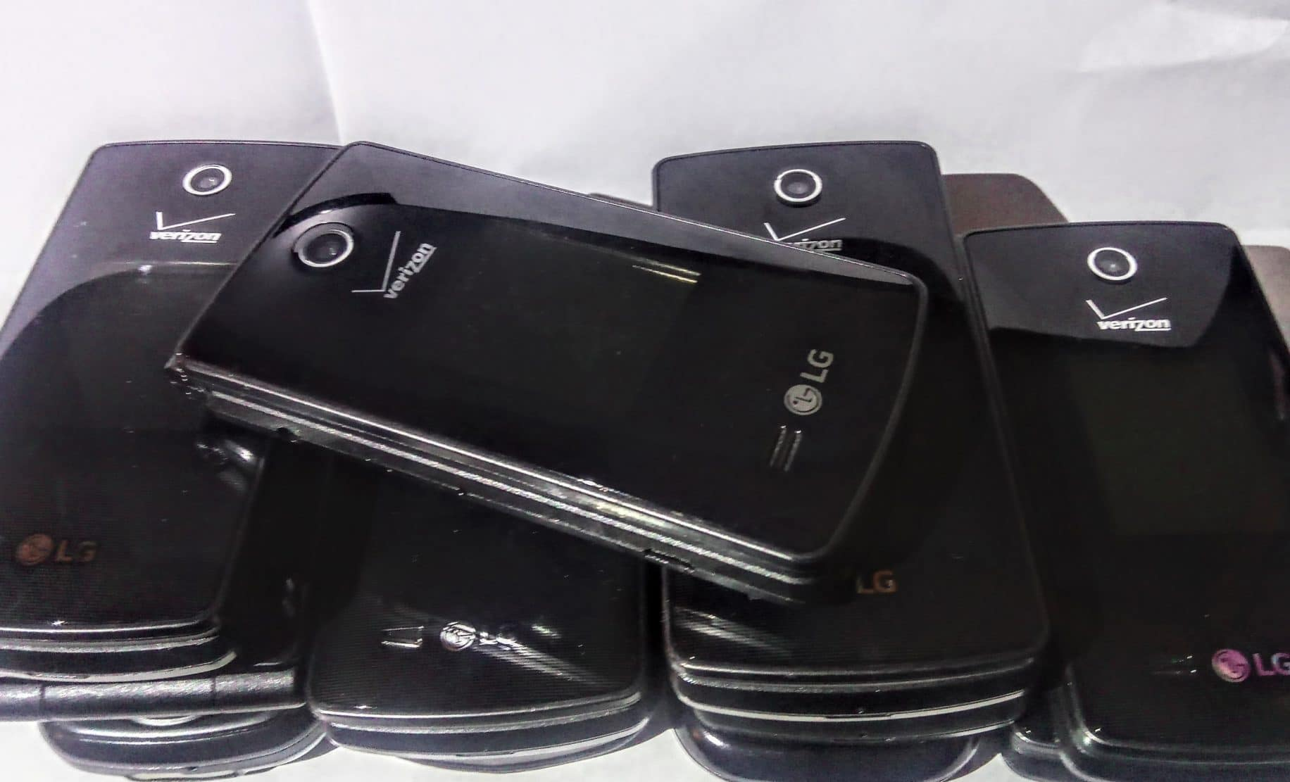 phones on table