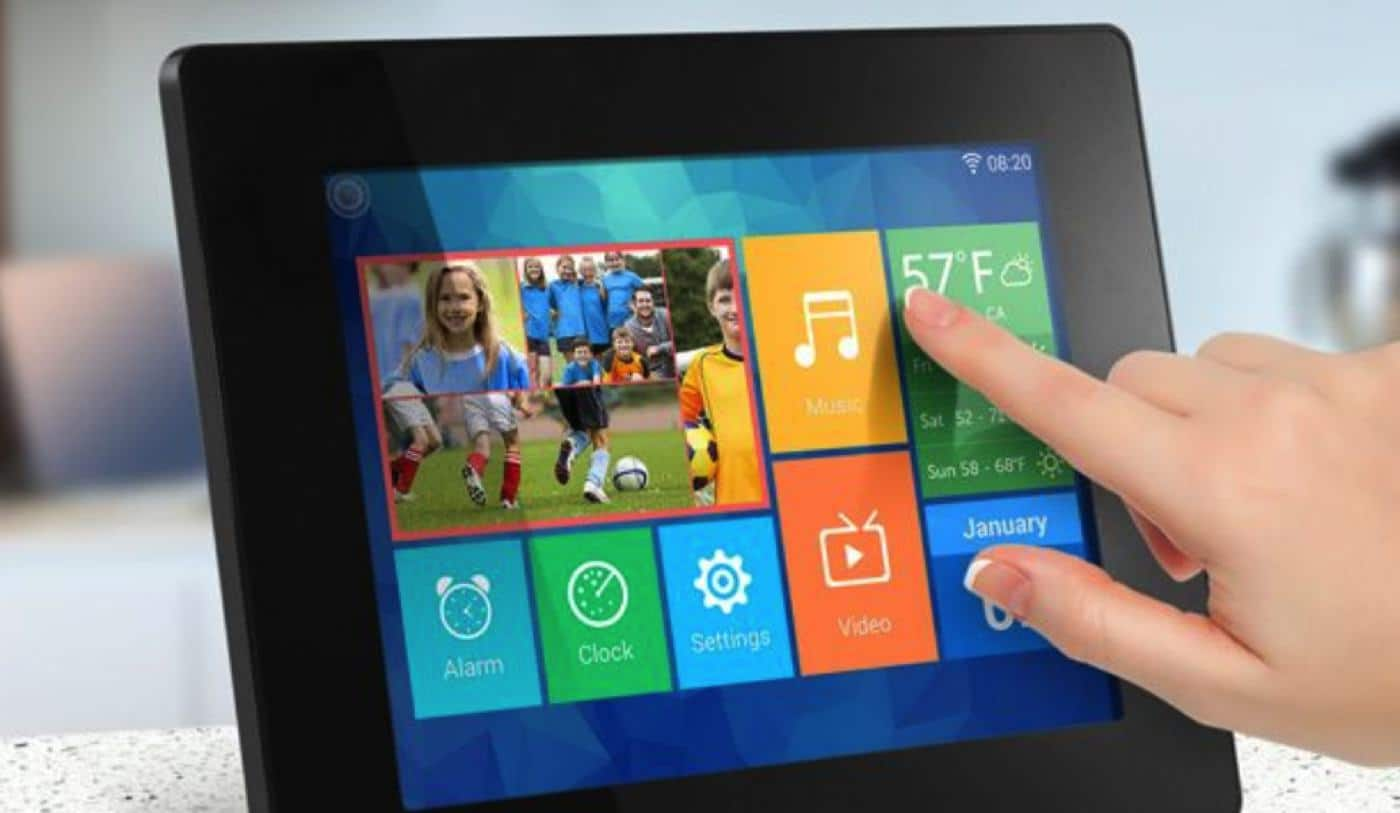 aluratek's new wifi touchscreen digital frames for father's day