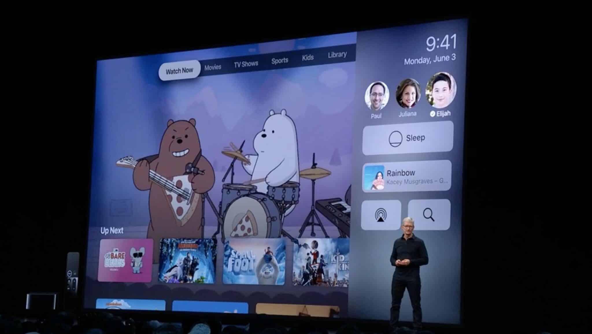 apple tv multi user support