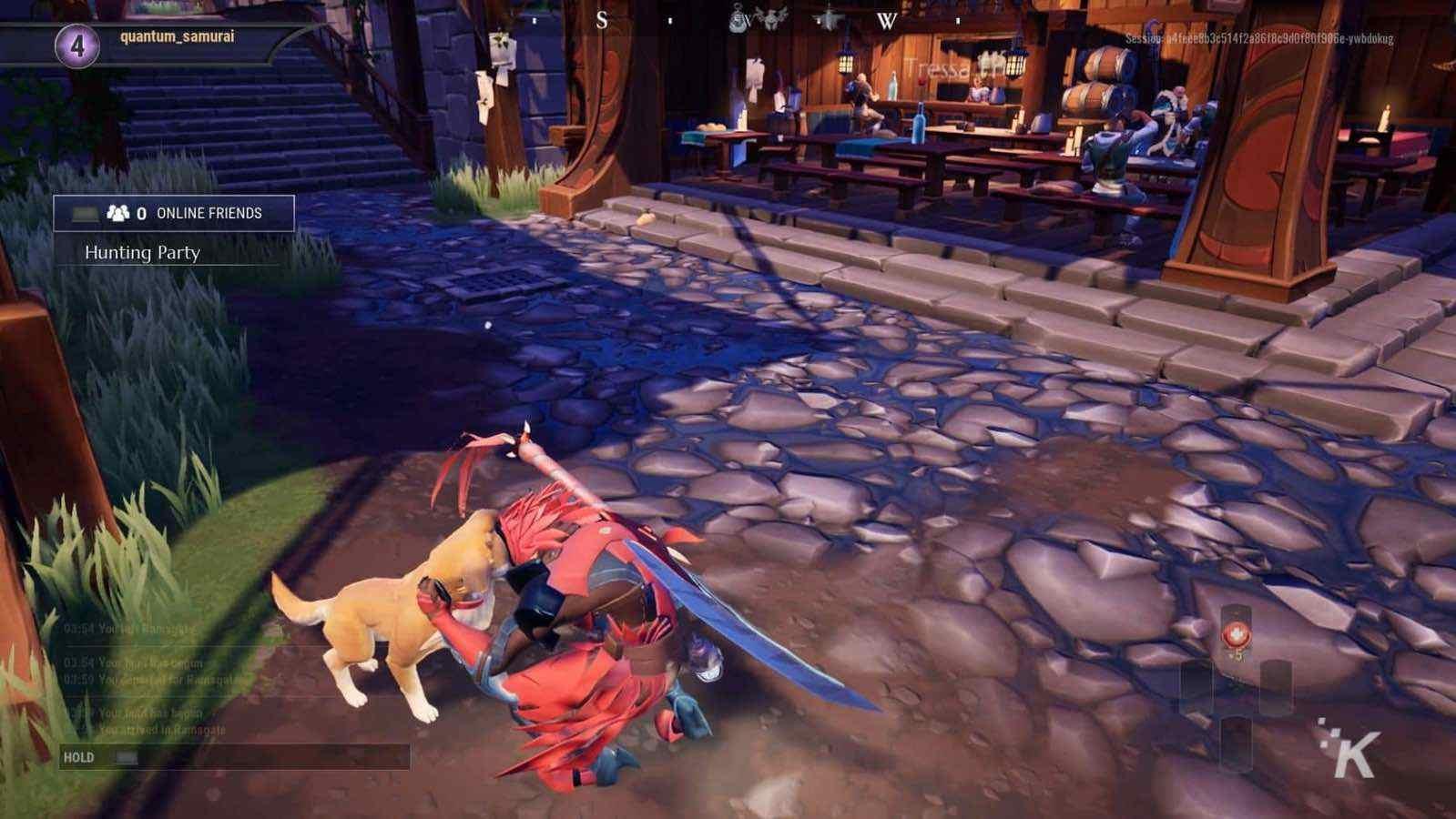 petting the dog in dauntless