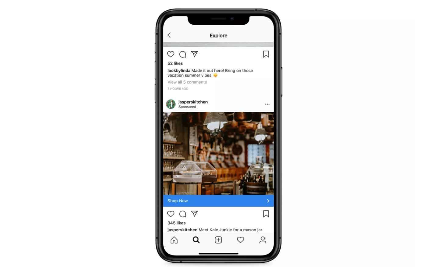 instagram explore page ads