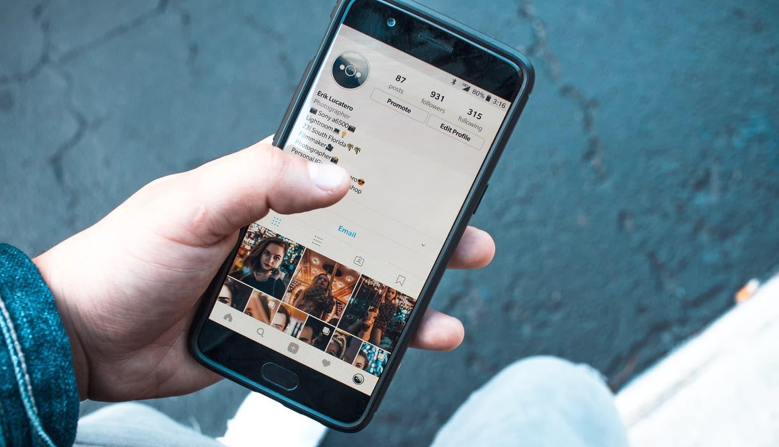instagram feed on phone