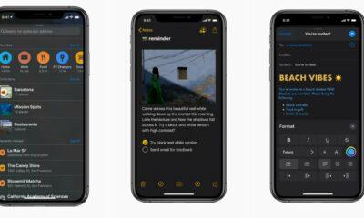 apple ios 13 dark mode screenshots