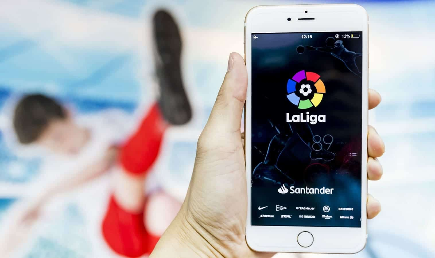 la liga soccer app on phone