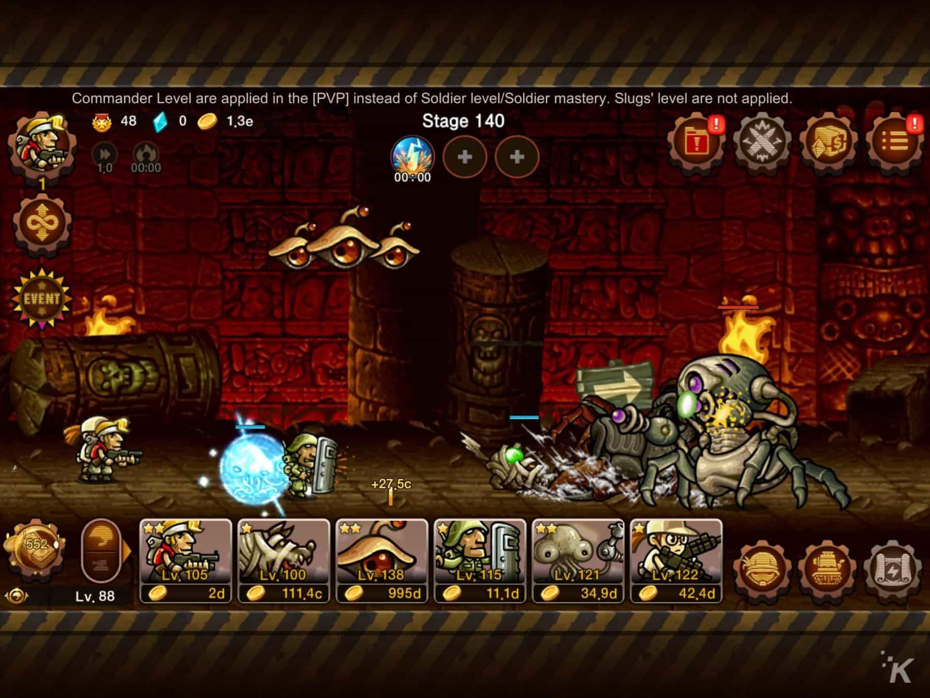 metal slug mobile game