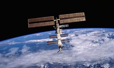 nasa iss floating in space