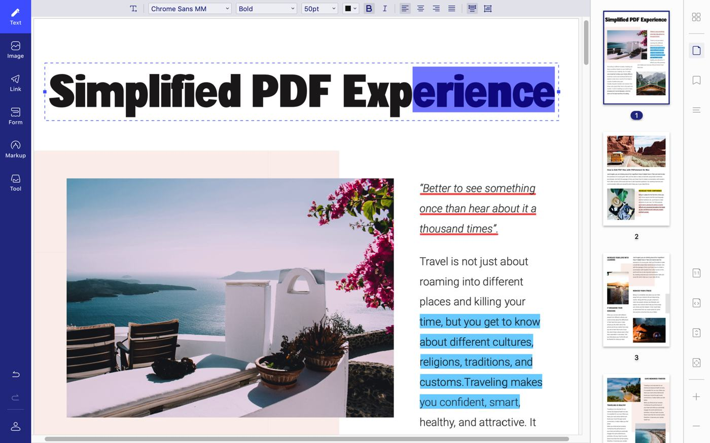 pdf element banner