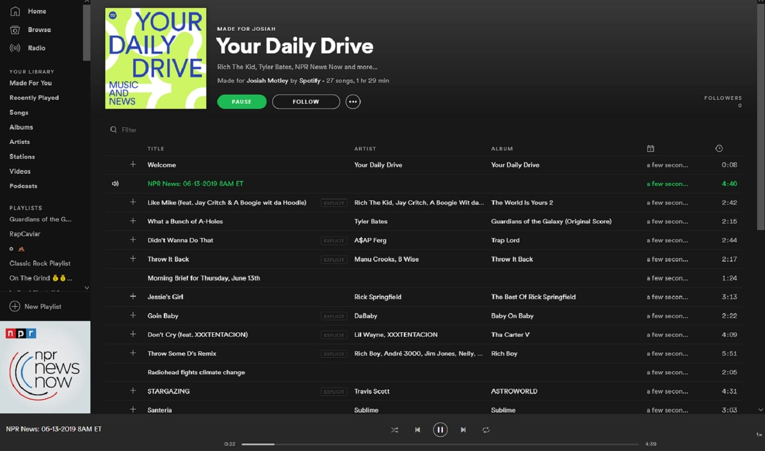 spotify the daily drive playlist