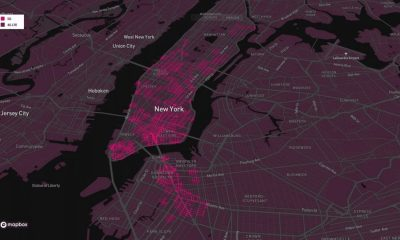 t-mobile's 5G coverage map overlaid with a map of downtown New York