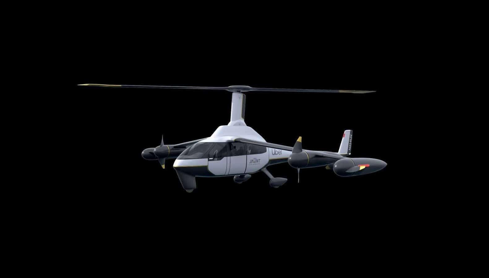 uber drone on black background