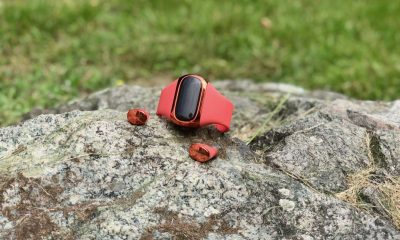 wearbuds kickstarter laying on a rock knowtechie review