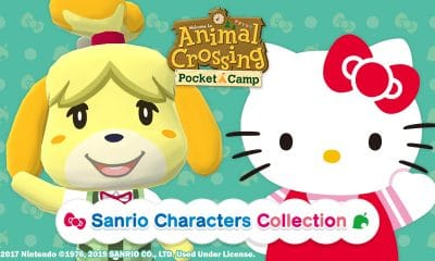 animal crossing pocket camp with hello kitty