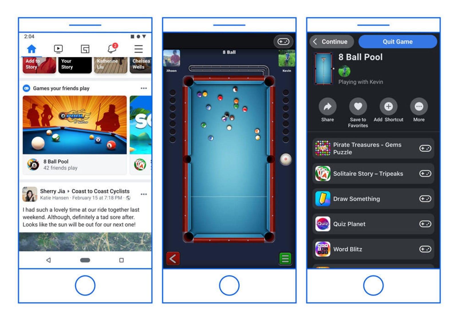 facebook messenger facebook games