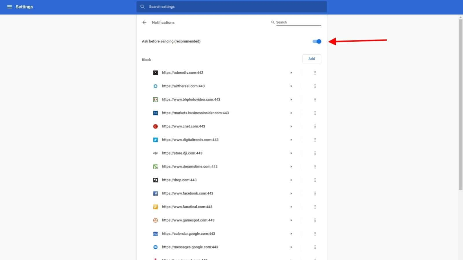 disable pop-ups in google chrome