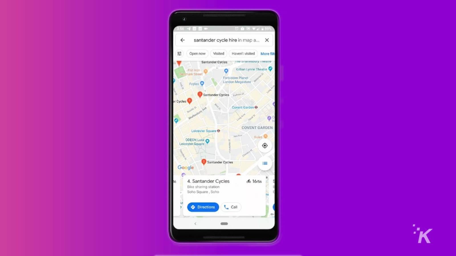 google maps bike sharing