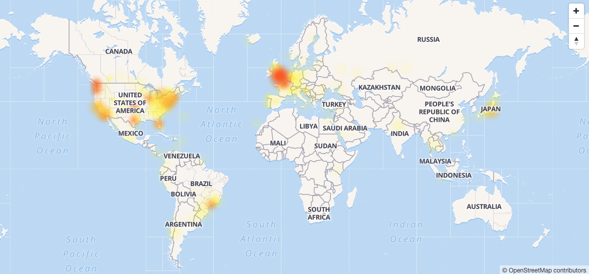 twitter down heatmap down detector