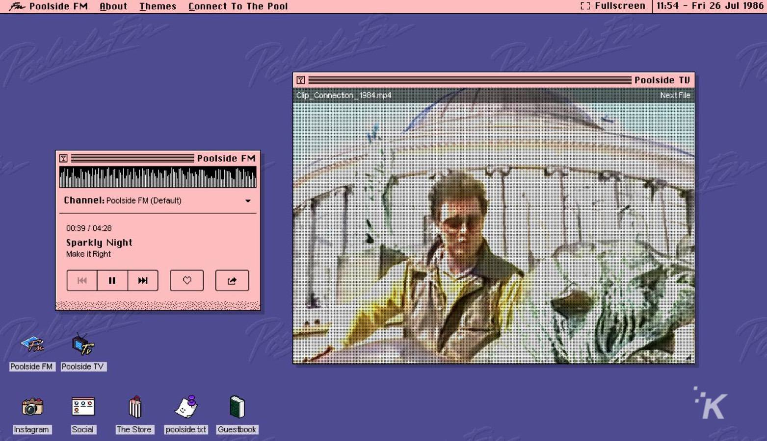 poolside.fm screenshot