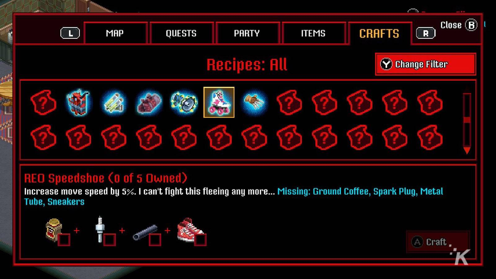 inventory management in the game