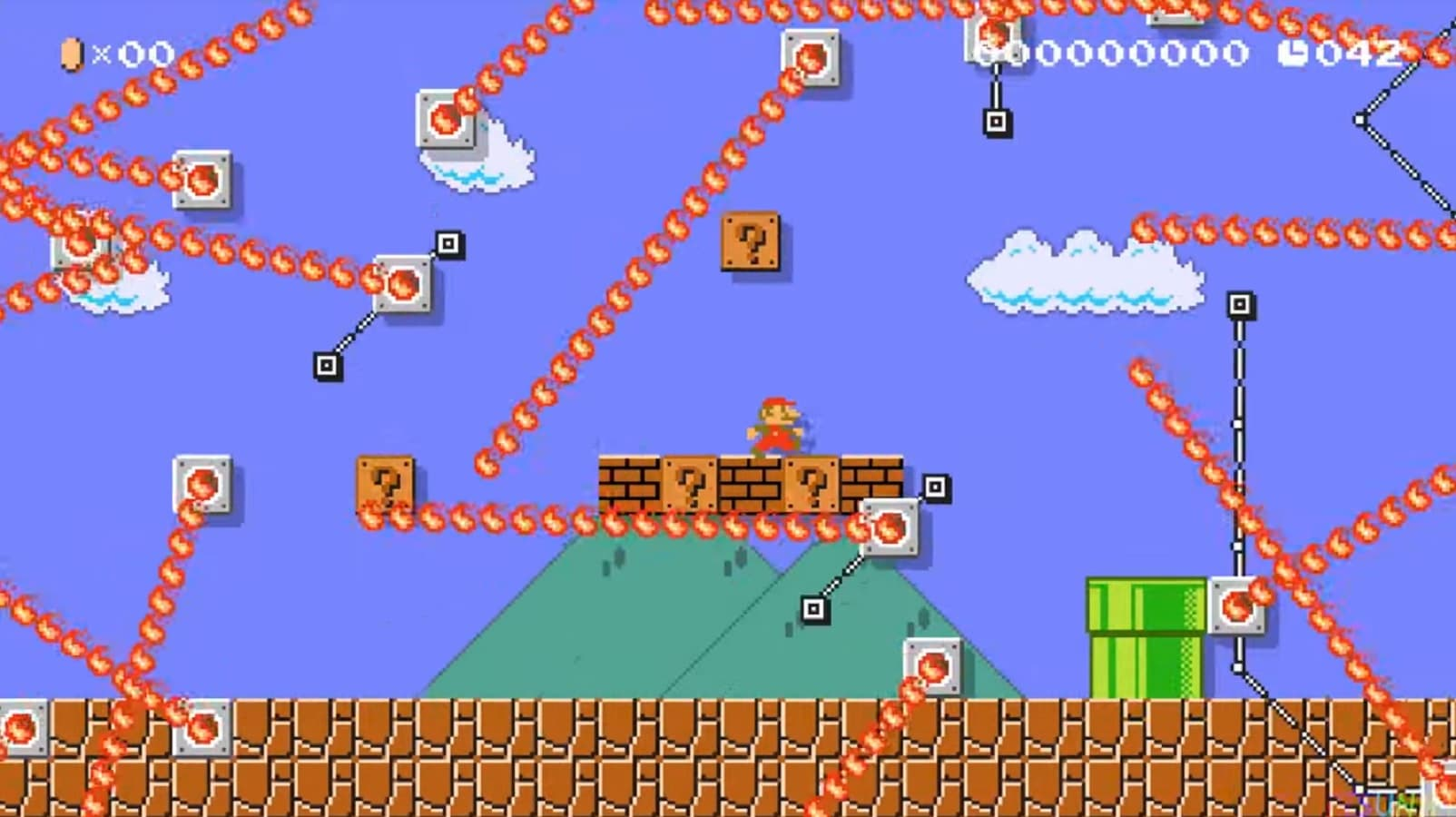 This Super Mario Maker 2 level takes World 1-1 and adds fire